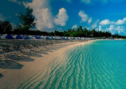 Luxury Beach with Clear Blue Water