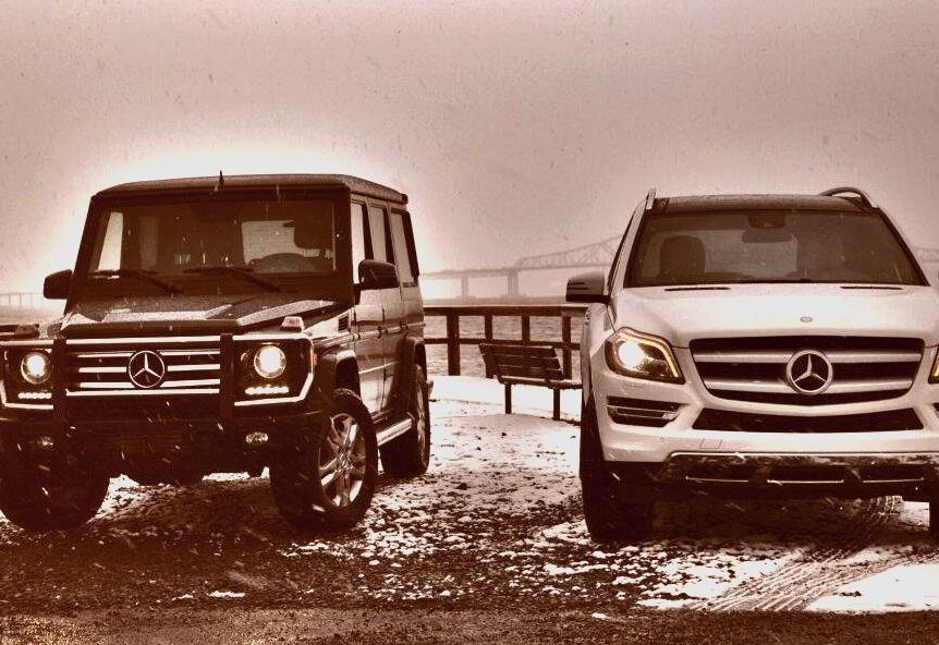 Mercedes-Benz SUVs in Snow