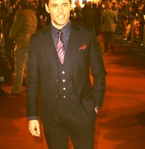 James Marsden wearing Dolce & Gabbana To Anchorman 2 Premiere in the UKwww.DiscoverLavish.com