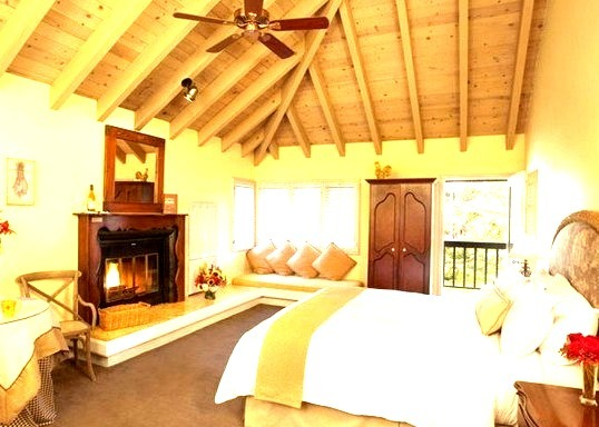 Beautiful Hotel Room with Fireplace