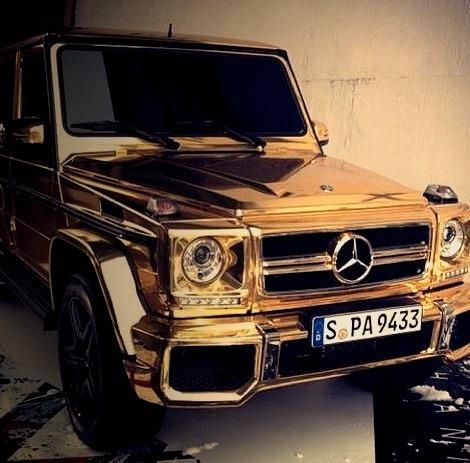 Gold Mercedes G Class