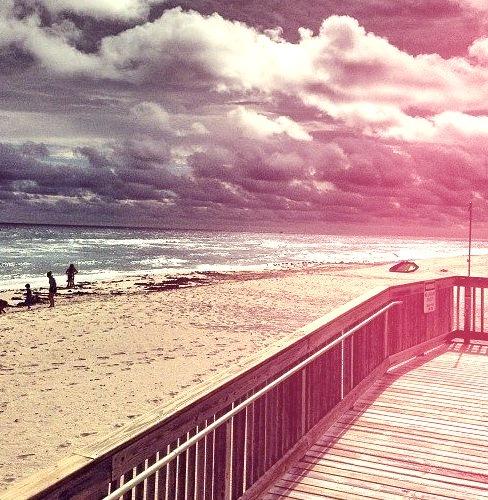 Late afternoon beach walk (at The Mar-a-lago Club)