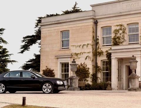 Beautiful Bentley Outside of a Mansionwww.DiscoverLavish.com