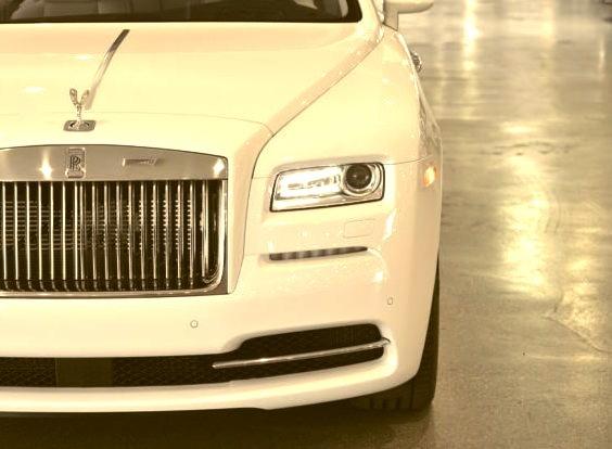 White Rolls Royce Grill