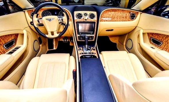Luxury Interior of a Bentley