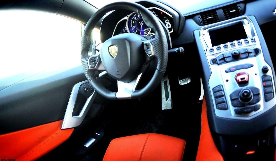 Inside of a Lamborghini