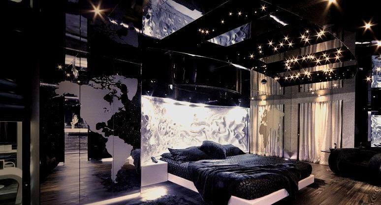 Luxury Modern Bedroom Inside of a Super Yacht