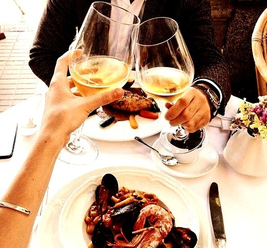 White wine and seafood is good combination.